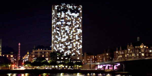 Illumination am Langebro von Danish Lighting Center c/o VisitDenmark