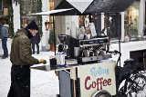 Rollender Kaffeerkäufer