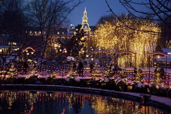 Weihnachten in Tivoli Kopenhagen