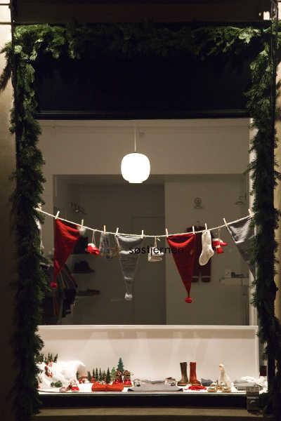 Schaufenster in der Vorweihnachtszeit
