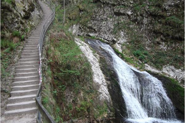 Die Allerheilgenfälle mit Treppe