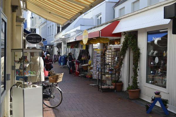 Shoppen in der Strandstraße Norderney