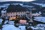 Das Burghaus Kronenburg am Weihnachtsmarkt