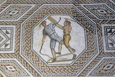 Mosaik in der römischen Villa Nennig
