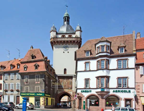 Sélestat, Bas-Rhin (Alsace, France), Tour de l'horloge