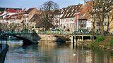 Straßburg: Brücke am Kai des Bateliers von Hihawai