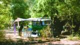 Mit dem Bulli auf dem Campingplatz le Bélézy,
