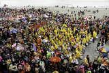 Karneval am Strand von Malo les Bains von Udo Haafke