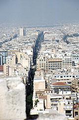 Blick in die Straßen Athens von Hihawai