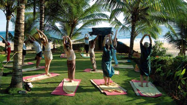 Somatheeram Ayurvedic Health Resort Yoga mit Meerblick