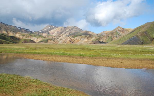 Berge im Landmannalaugar am bekannten Trekkingweg Laugavegur