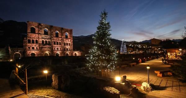 Weihnachtsmarkt in Aosta