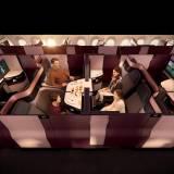 In der komfortablen Qsuite von Frankfurt nach Doha