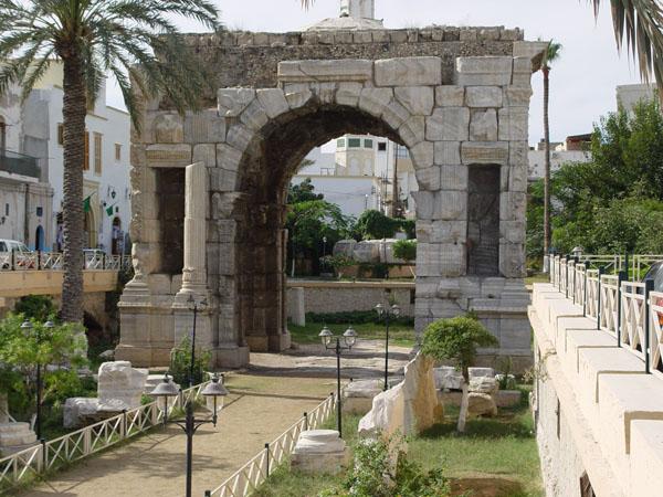 Marcus Aurelies Arch in Tripoli, Libya.
