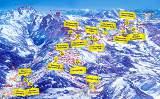 Skiregion Dachstein West Karte: Gaudipistenpanorama von Leo Himsl