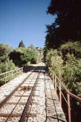 Gleise der Standseilbahn am Monte Bre