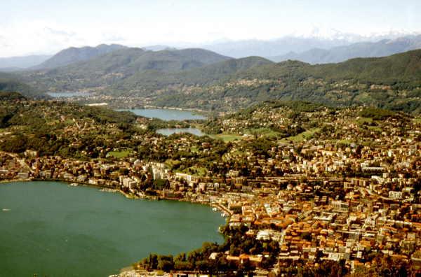 Lugano und Hinterland (vom Monte Bre)