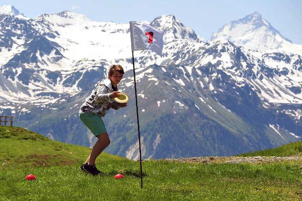 Frisbee Golfer auf dem Torrent