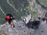 Auf dem Klettersteig Daubenhorn