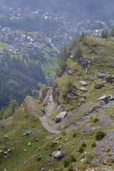 Leukerbad vor dem Schafabzug über den Gemmiweg von Hihawai