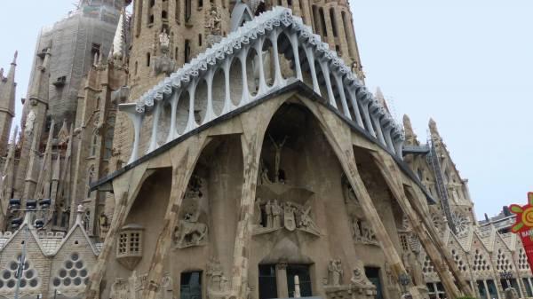 Passionsfassade der Sagrada Familia in Barcelona