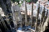 Die Sagrada Familia im Jahre 1991 - noch ohne Dach von Hihawai