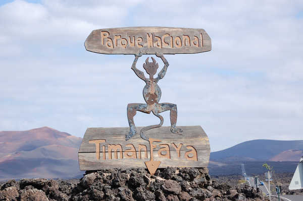 Nationalpark Timanfaya Schild