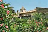 Nostra Senyora del Roser hinter Blumen von Hihawai