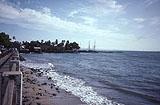 Blick zum Hafen von Hihawai