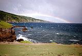 Regenbogen in der Nähe der 7 Sacred Pools von Hihawai