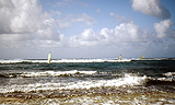 Windsurfer am Sunset Beach von Hihawai