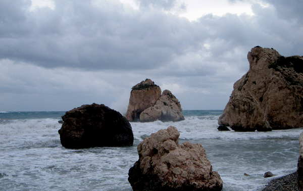 Felsen der Aphrodite: Das Meer schäumte und gebar Aphrodite