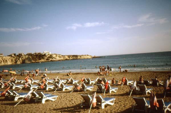 Der öffentliche Strand von Paphos